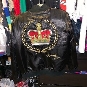 Bruno mars 24k magic crown embroidered tour jacket